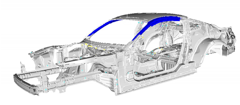 2016-Ford-Mustang-body-structure-pillar-BIW