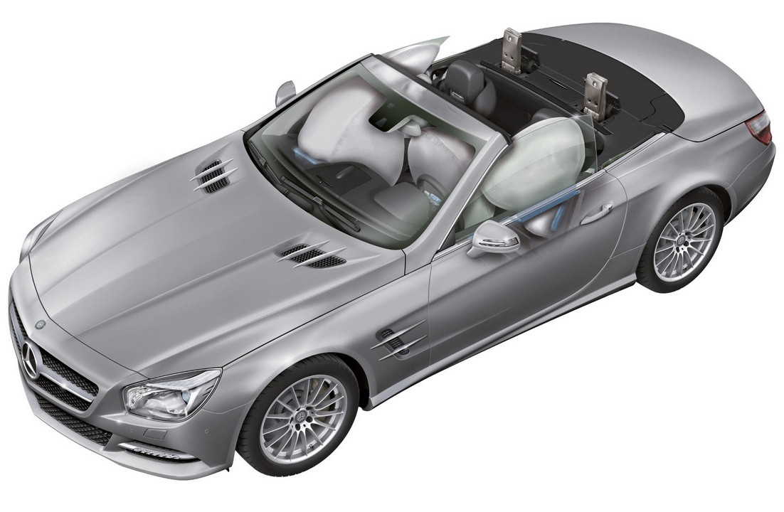 2013 mercedes benz sl class body structure boron extrication for Mercedes benz airbags