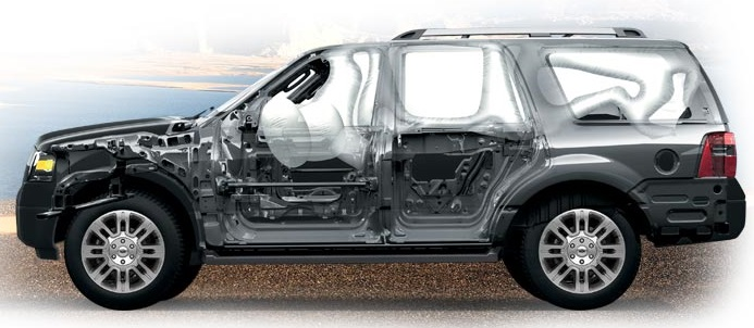 2013 Lincoln Navigator Body Structure and Airbags