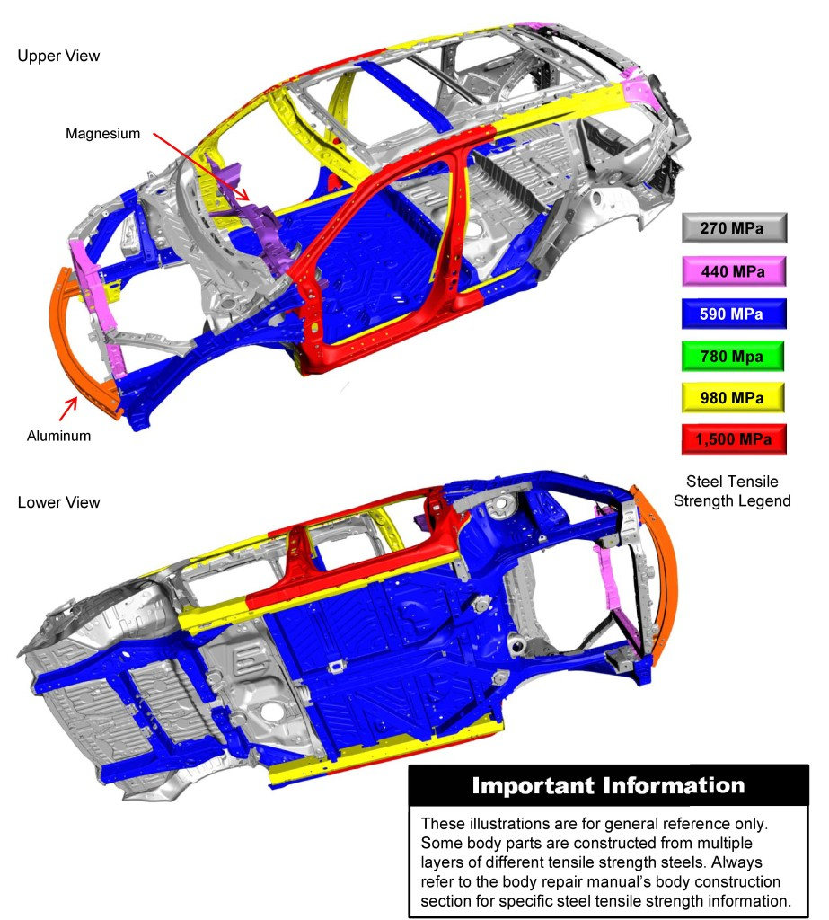 2016 Honda Pilot Body Structure Boron Extrication